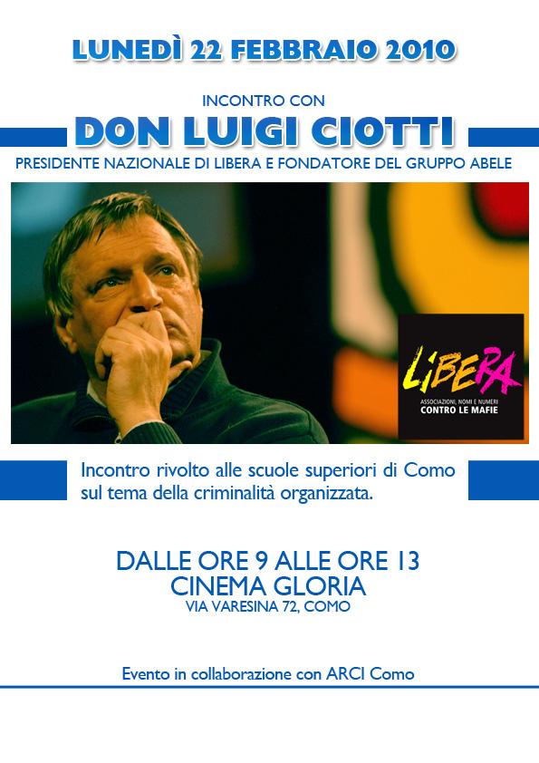 Locandine Invito Don Luigi Ciotti