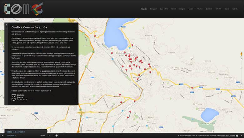 web design mappa tematica grafica